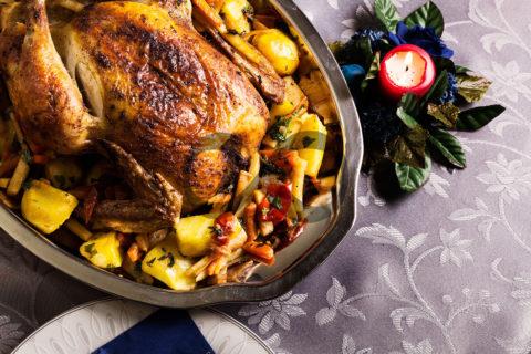 Taze Baharatlı Fırın Tavuk